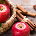 Honey Crisp Apples and Cinnamon Sticks